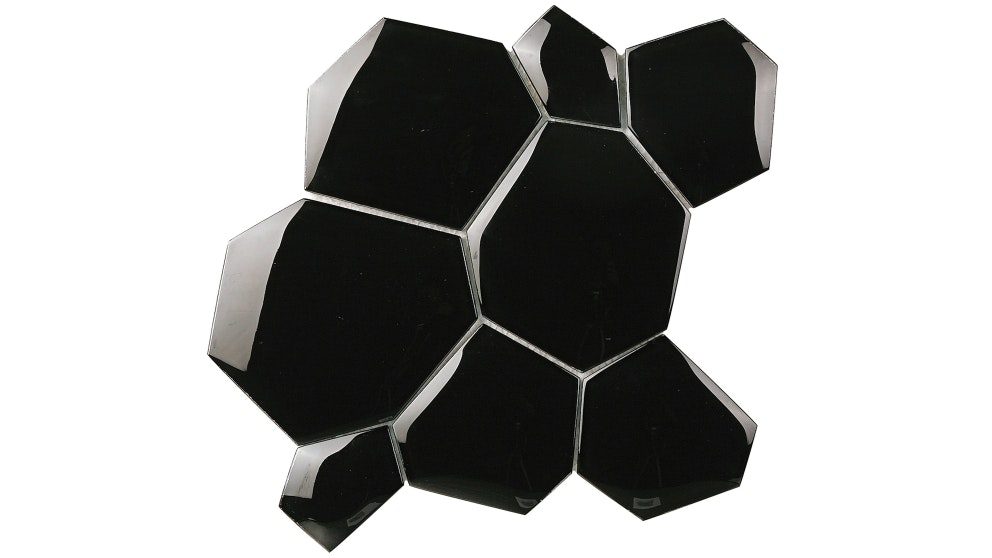 Everstone Water Cube Nero Mosaic Wall Tile