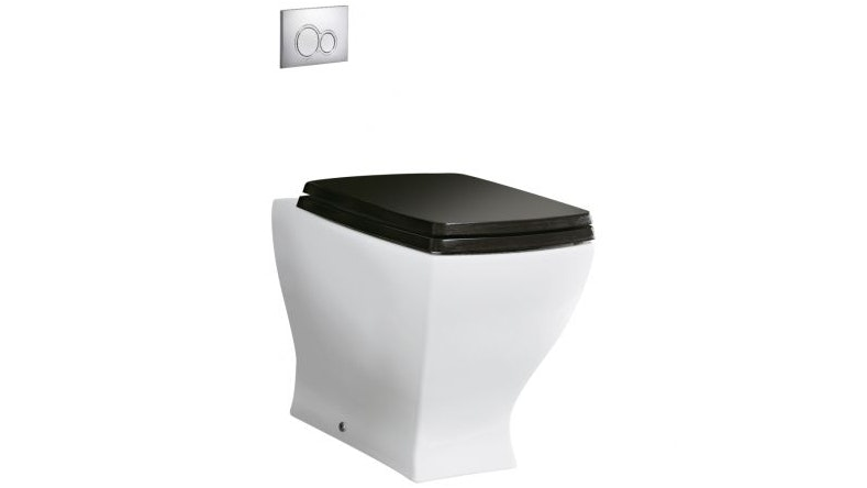 Parisi Jazz White Wall-Faced Pan with Black Seat