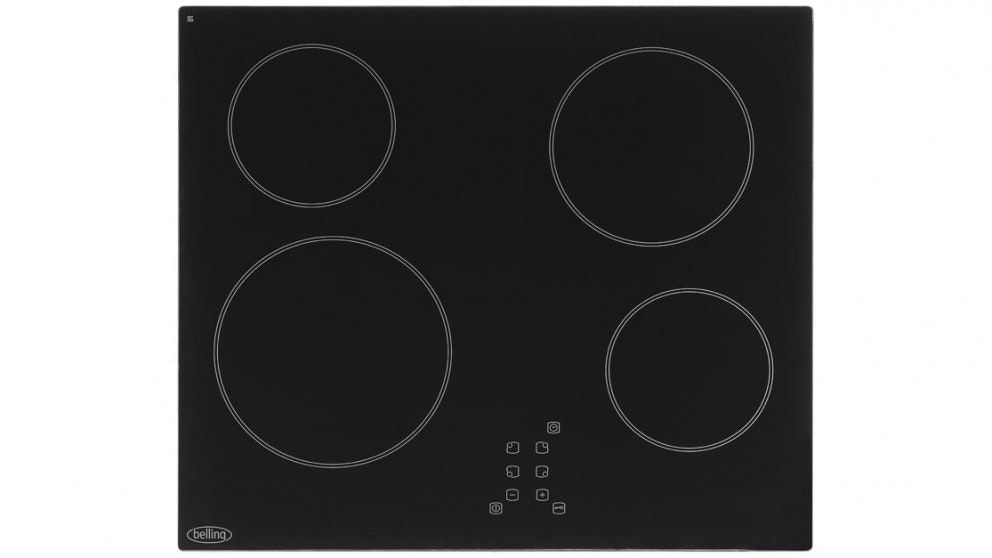 Belling 60cm Ceramic Hob with Touch Controls Cooktop - Black