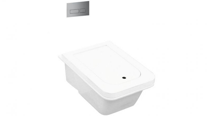 PARISI 'VOLO' WALL-HUNG PAN WITH CISTERN & FLUSHPLATE