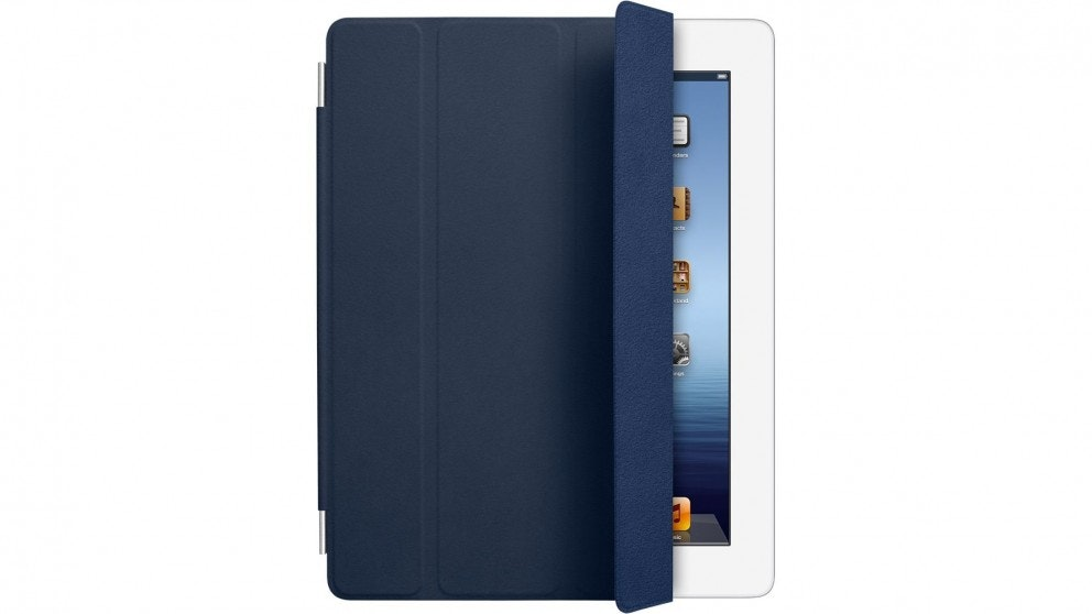 Apple iPad Leather Smart Cover - Navy
