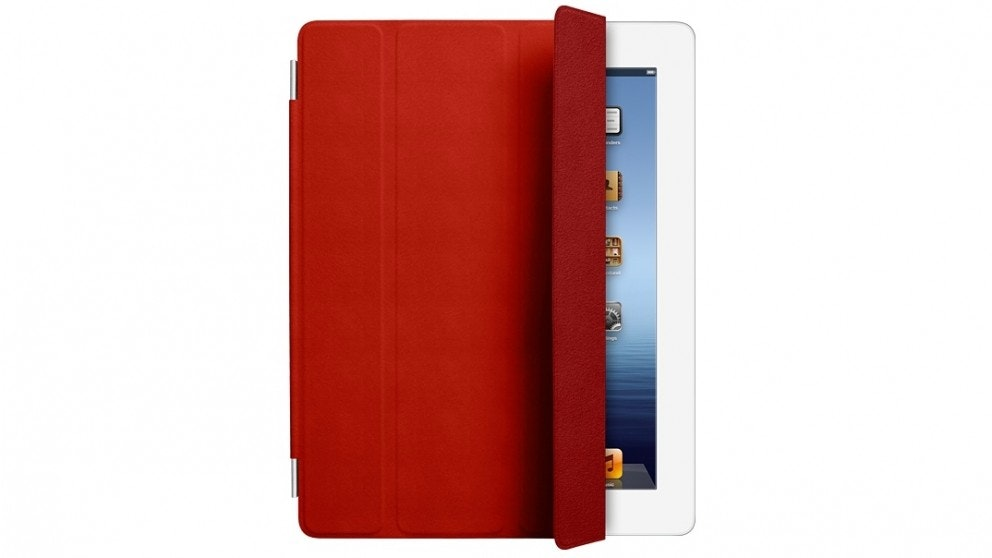 Apple iPad Leather Smart Cover - Red