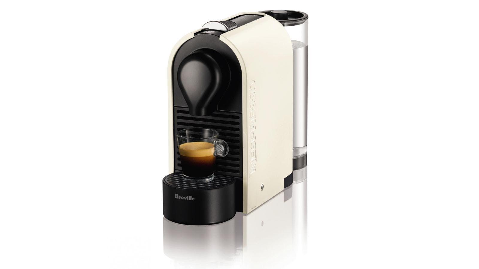 nespresso u solo coffee machine white domayne. Black Bedroom Furniture Sets. Home Design Ideas