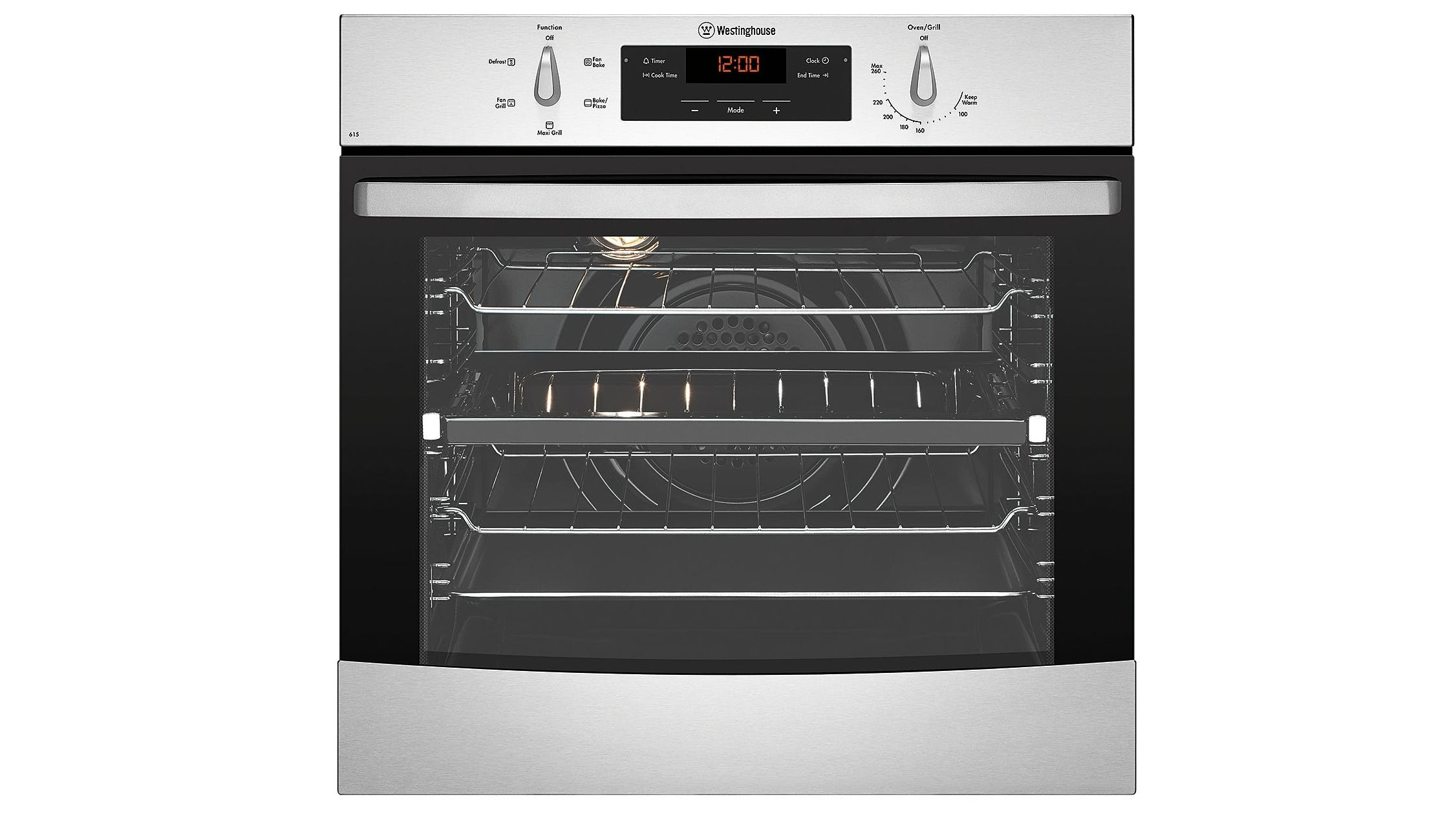 Westinghouse 60cm Multifunction Oven - Stainless Steel | Domayne