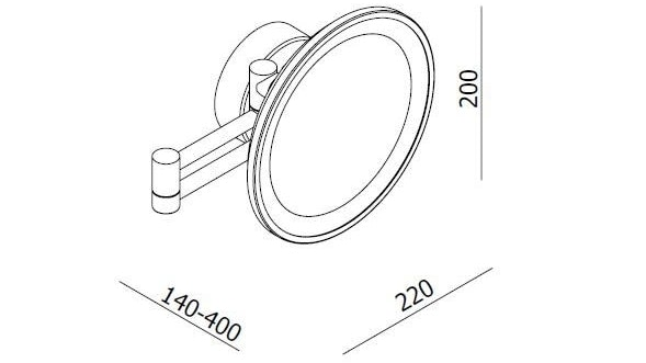 l u0026 39 hotel round magnifying swivel mirror with light