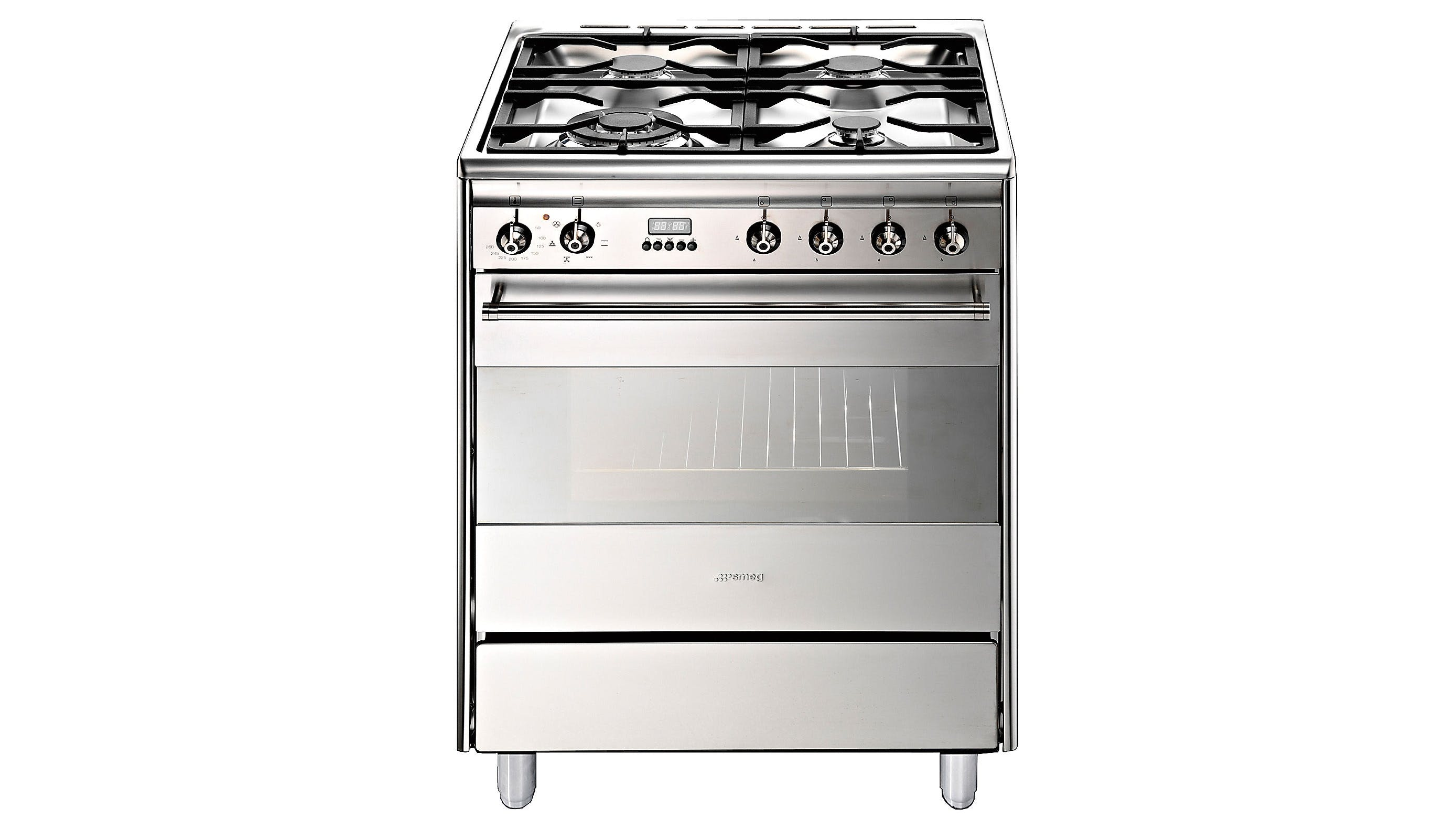 Smeg 60cm Gas and Electric Upright Cooker | Domayne