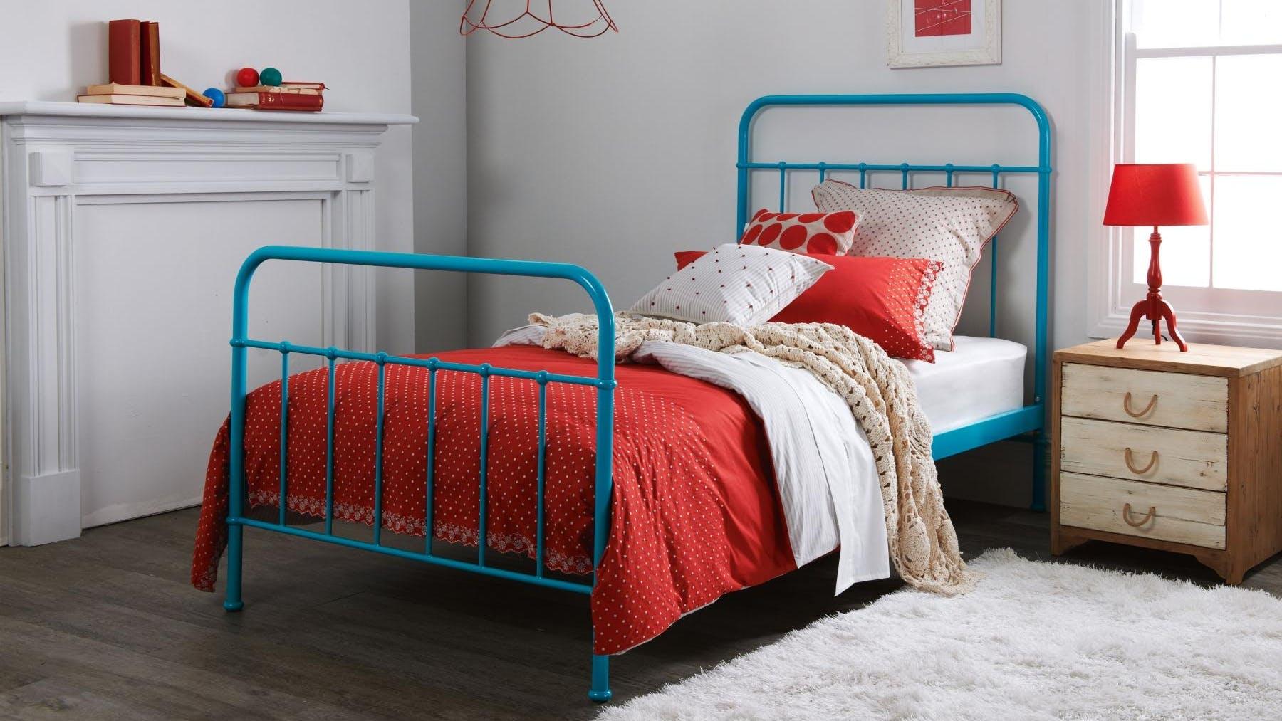 Sunday Kids Bed Frame - Teal Blue | Domayne