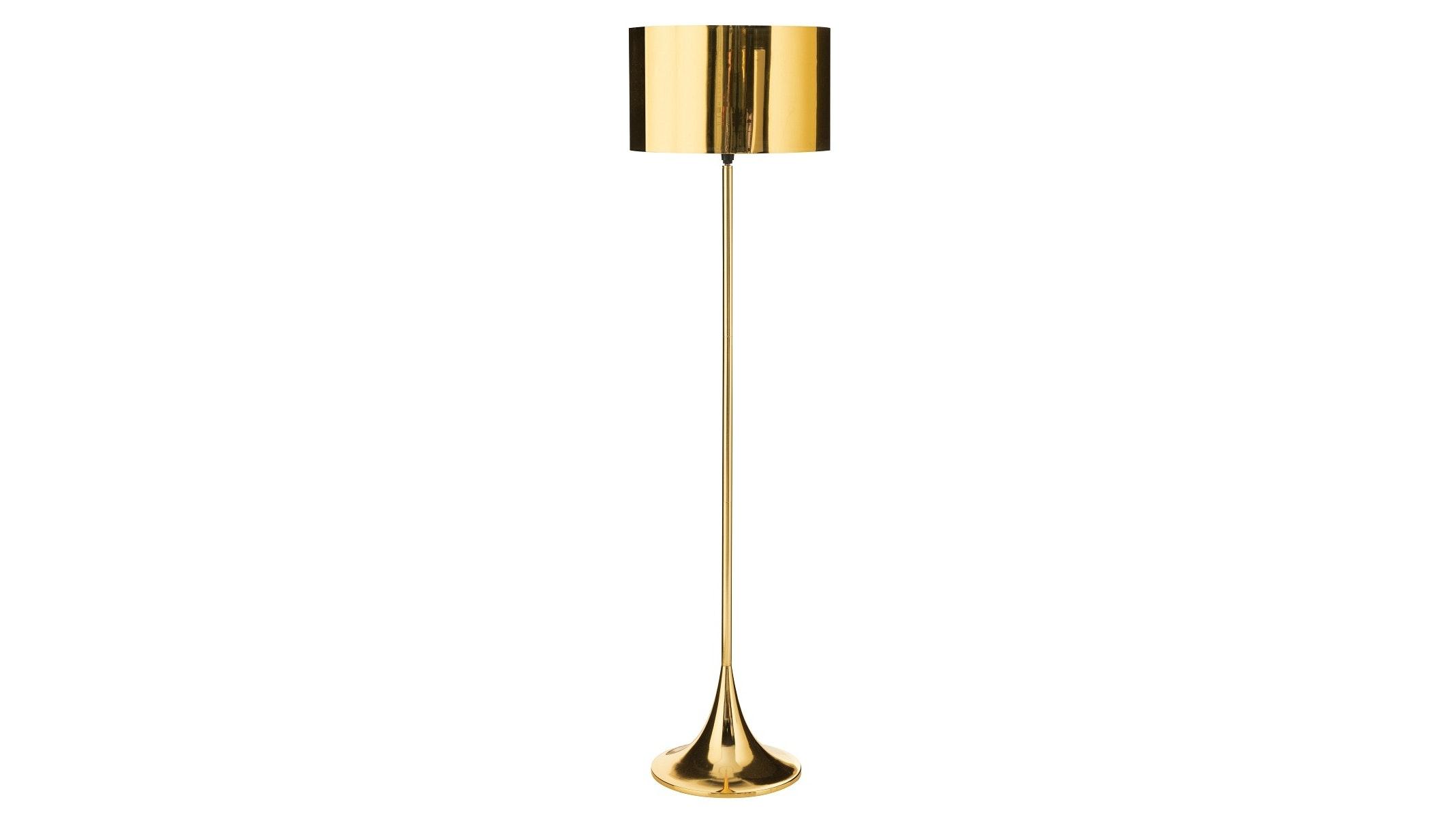 Beaker Gold Floor Lamp Domayne