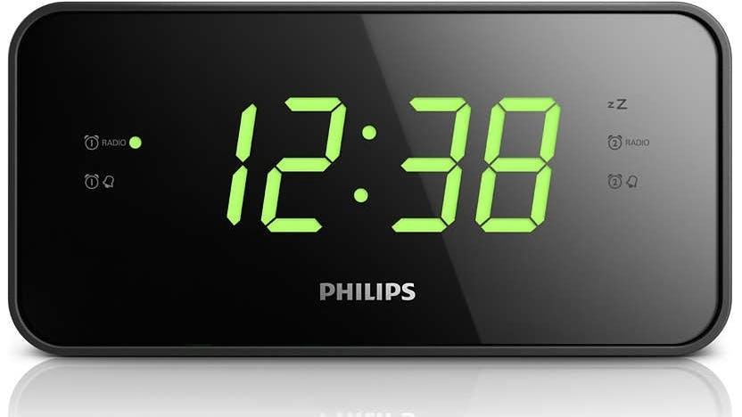 philips digital clock radio domayne. Black Bedroom Furniture Sets. Home Design Ideas