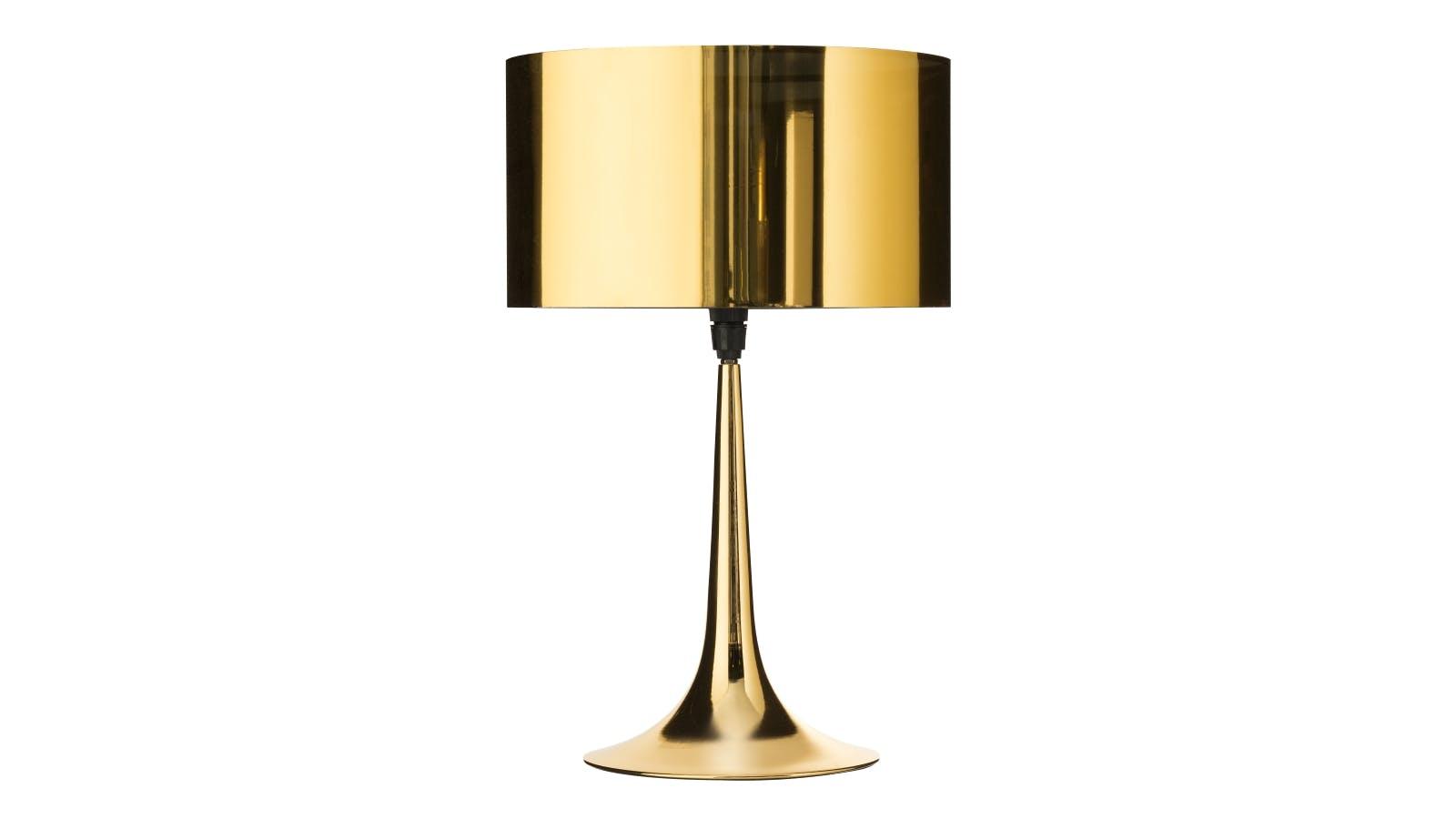 Beaker Table Lamp Gold Domayne