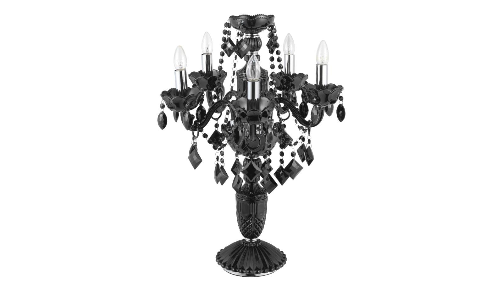 Valentine Crystal Lamp - Black   Domayne