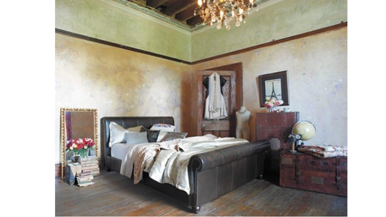 Maison Bedroom Furniture Maison Leather Bed Frame Domayne