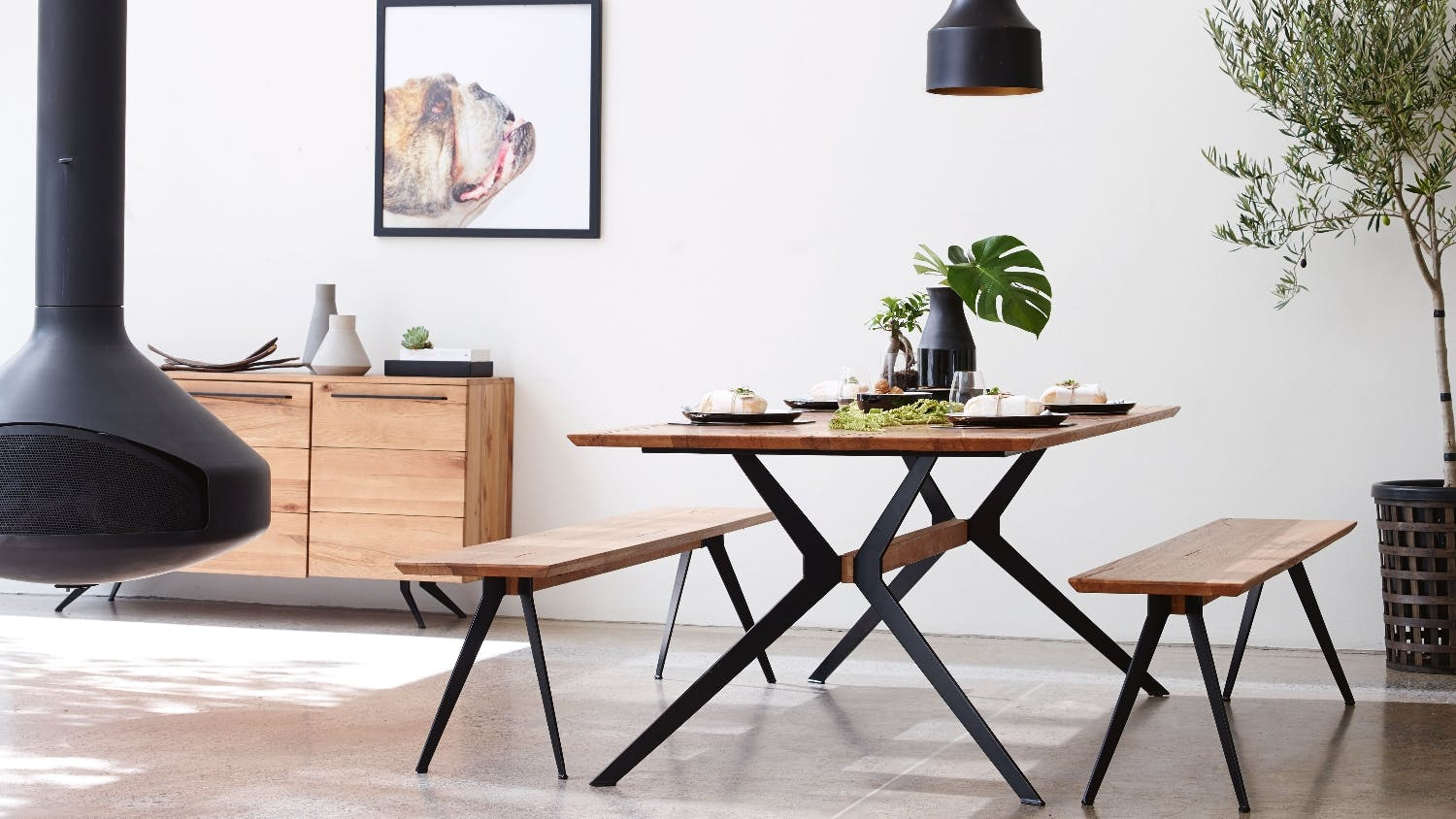 Kai dining table domayne for Table diner