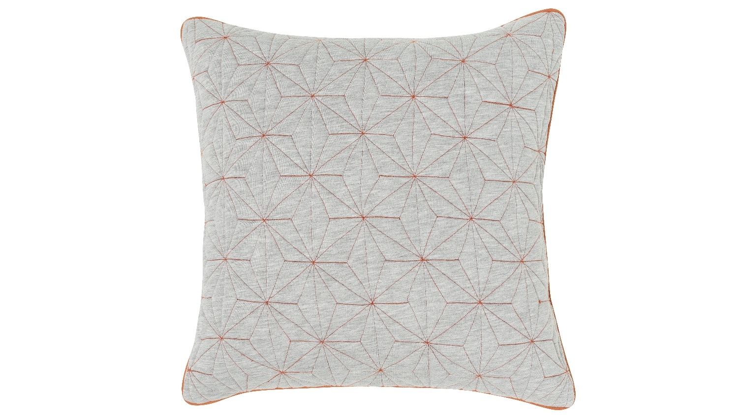 Diamond Quilted Cushion - Grey/Copper
