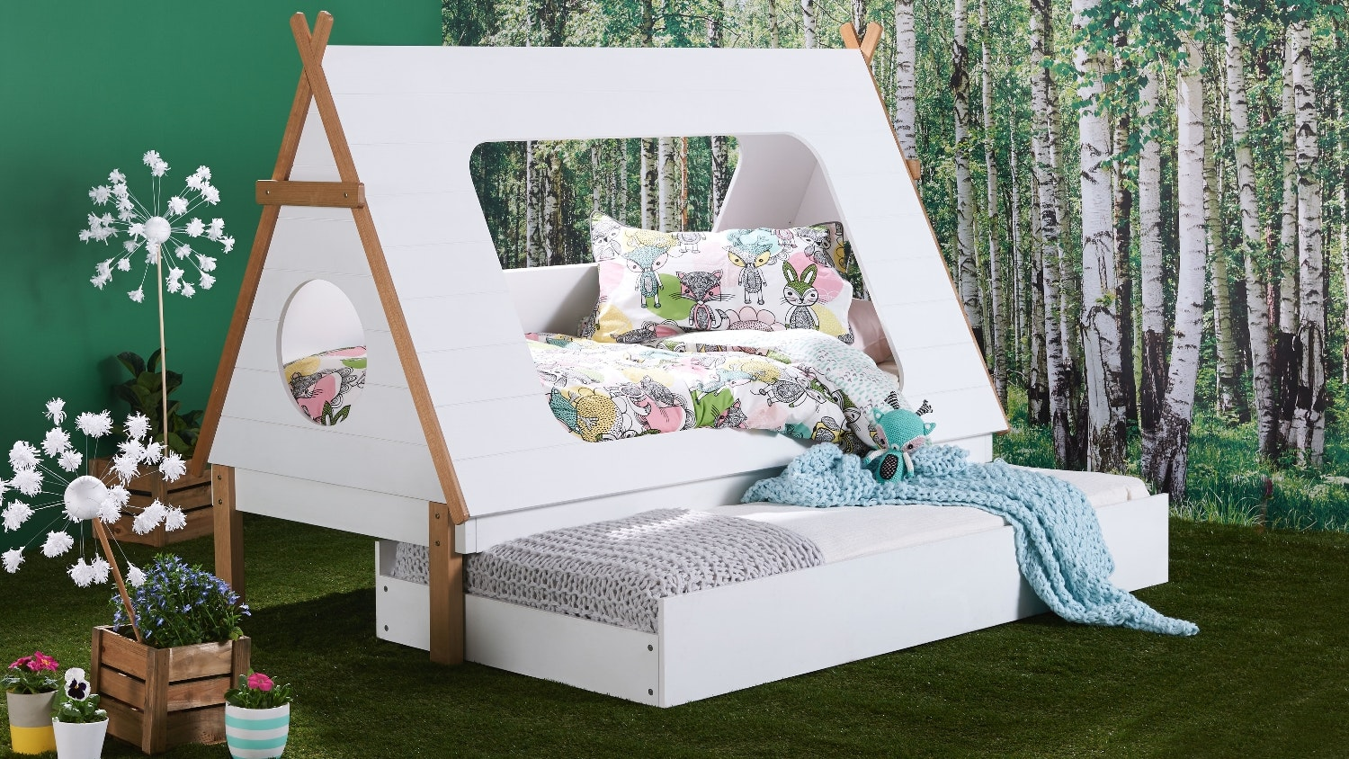 tee pee kids trundle bed