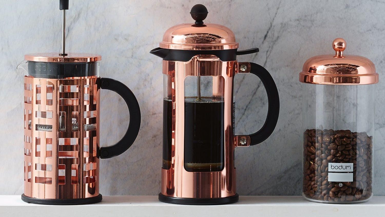 bodum chambord 8 cup french press copper domayne. Black Bedroom Furniture Sets. Home Design Ideas
