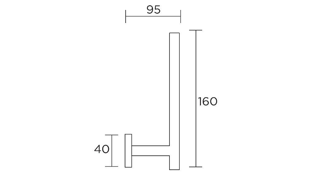 Streamline Axus Spare Toilet Roll Holder - Chrome