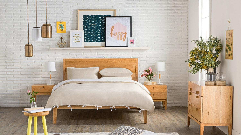 Lola 1 Drawer Bedside Table - Natural