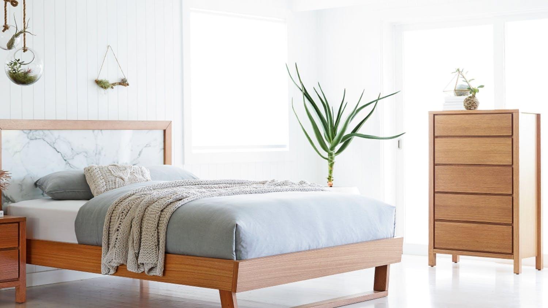 Tasmanian Oak Bedroom Furniture Chest Of Drawers Tallboy Drawers Drawer Dresser Domayne