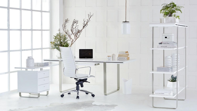 office glass desks. Loren Desk With Return And 3 Drawer Cabinet Office Glass Desks O