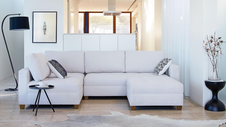 Sophie 4 Piece Fabric Modular & Ottoman