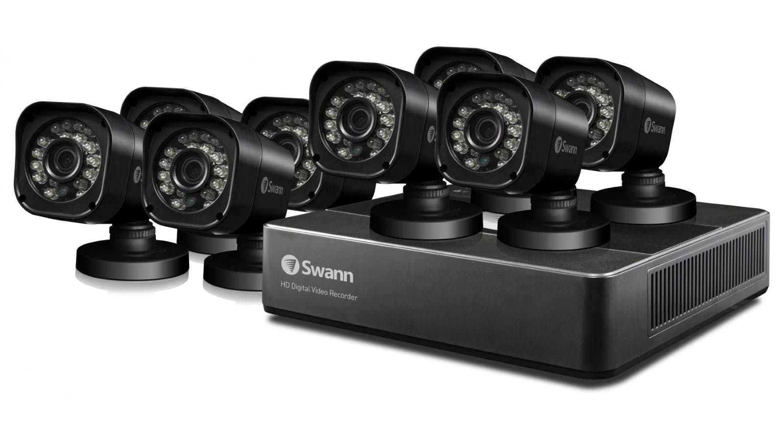 Swann dvr8 159 8 channel home security system with 8 for House alarm with camera