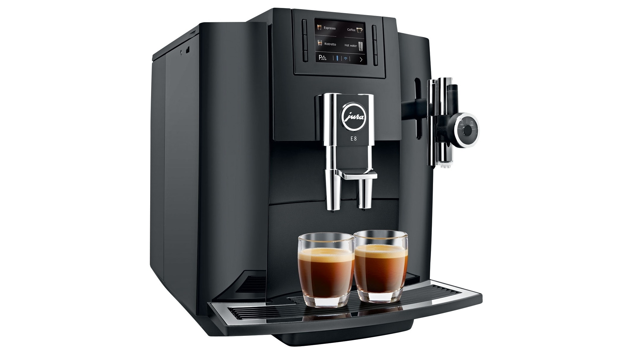 Jura E8 Automatic Coffee Machine Piano Black