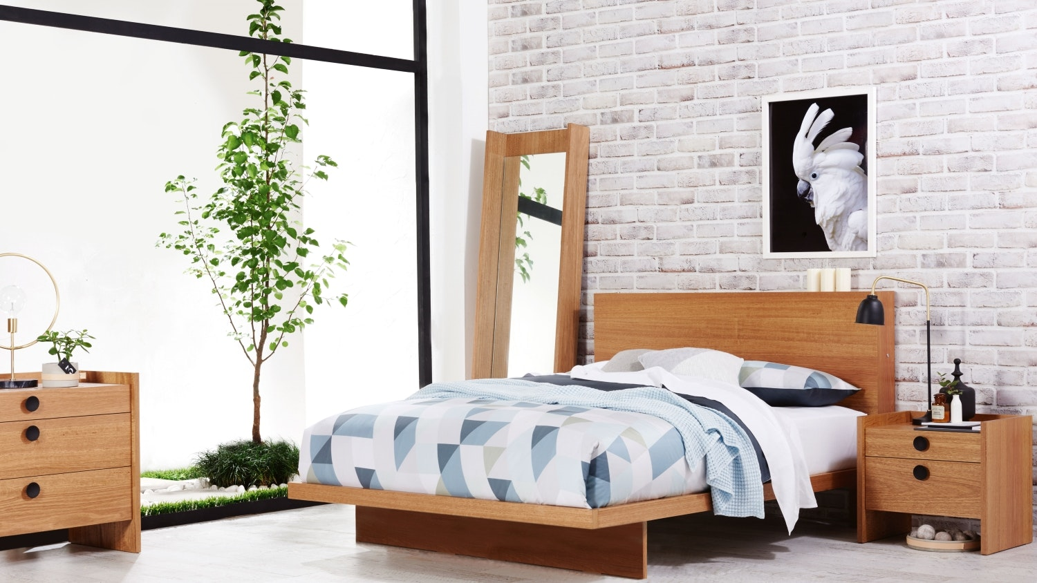 Gallery Bed Frame with Tech Pack