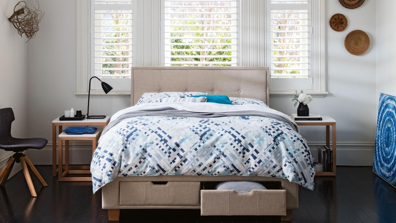 Superb Halo Bed Frame With Storage   Beige