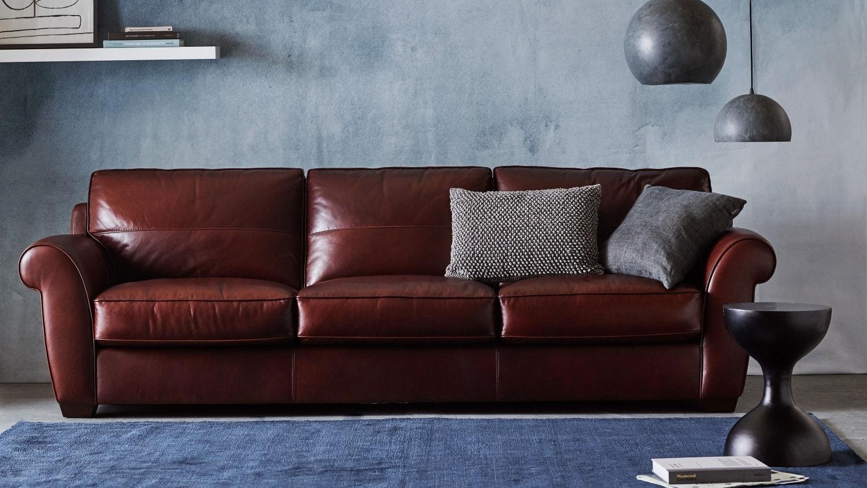 bentley 35 seater leather sofa