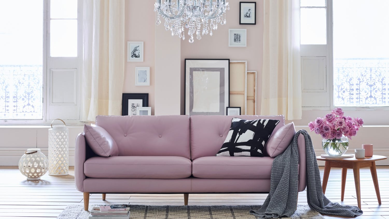 Pink Leather Sofa Reinterpretations Chesterfield Sofa