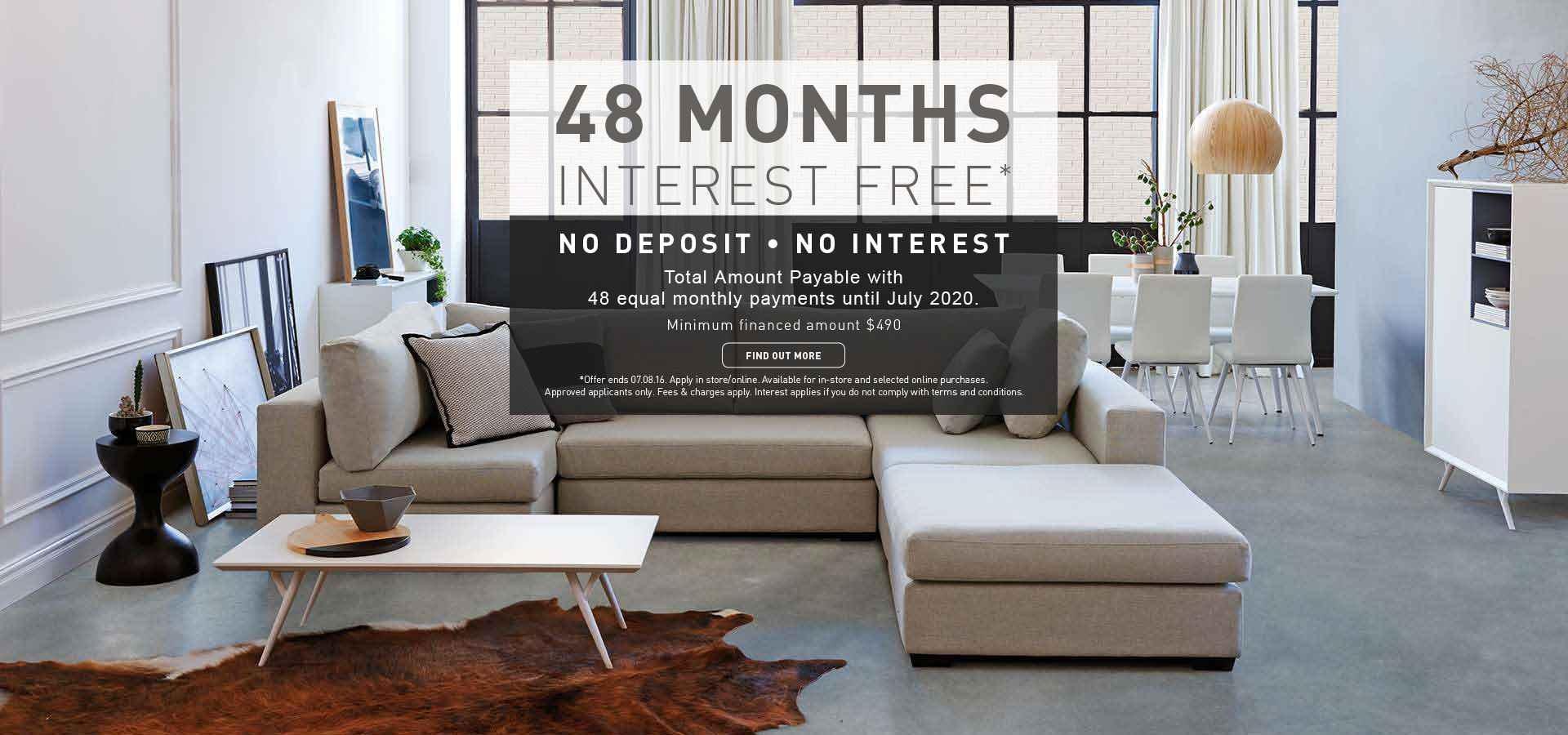 48 Months Interest Free