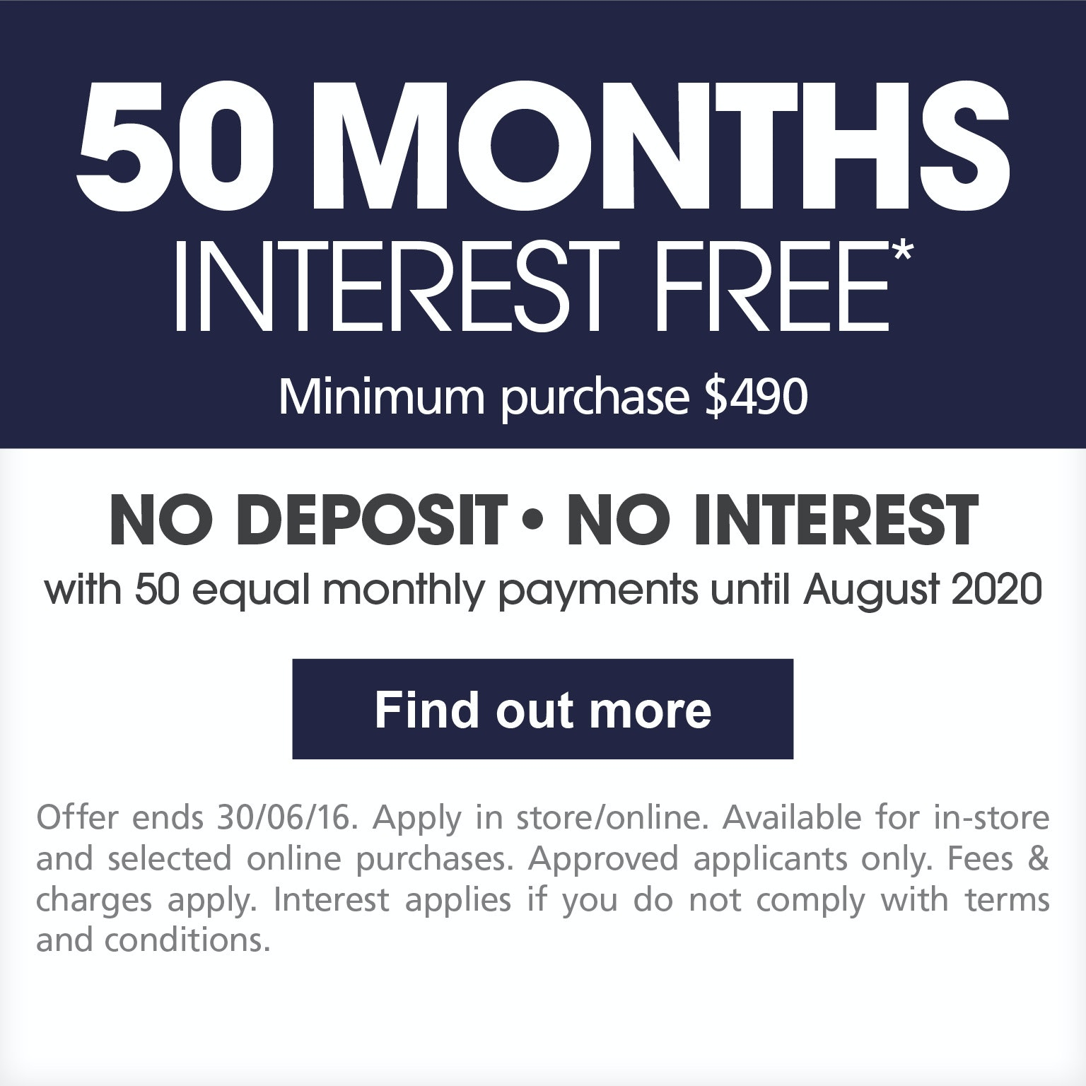 50 Months Interest Free