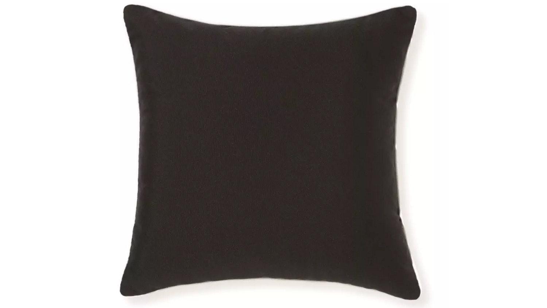 Riviera Plain Cushion Black