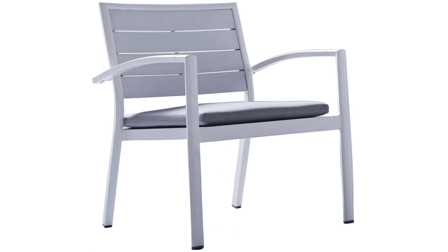 Charlie Outdoor Lounge Chair with Cushion - White
