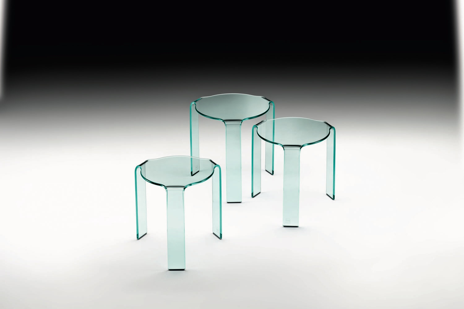 Omaggio Alvar Aalto Tris Side Table by CRS Fiam for Fiam Italia