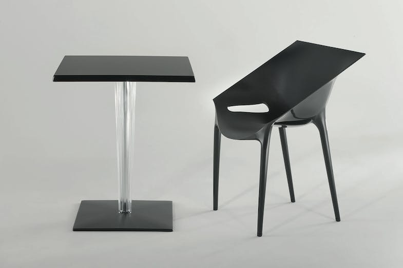 toptop for dr yes table with square leg by philippe starck with eugeni quitllet for kartell. Black Bedroom Furniture Sets. Home Design Ideas