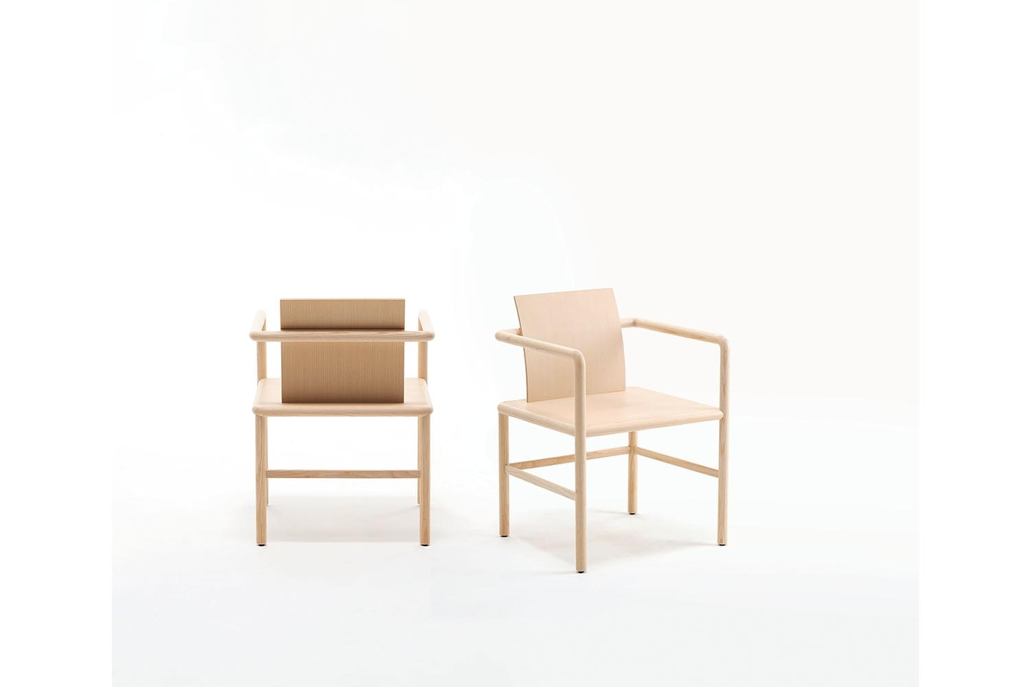 Zhu Chair with Arms by Piero Lissoni for Glas Italia