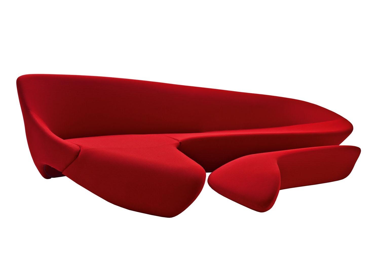 moon system sofa by zaha hadid for b amp b italia space