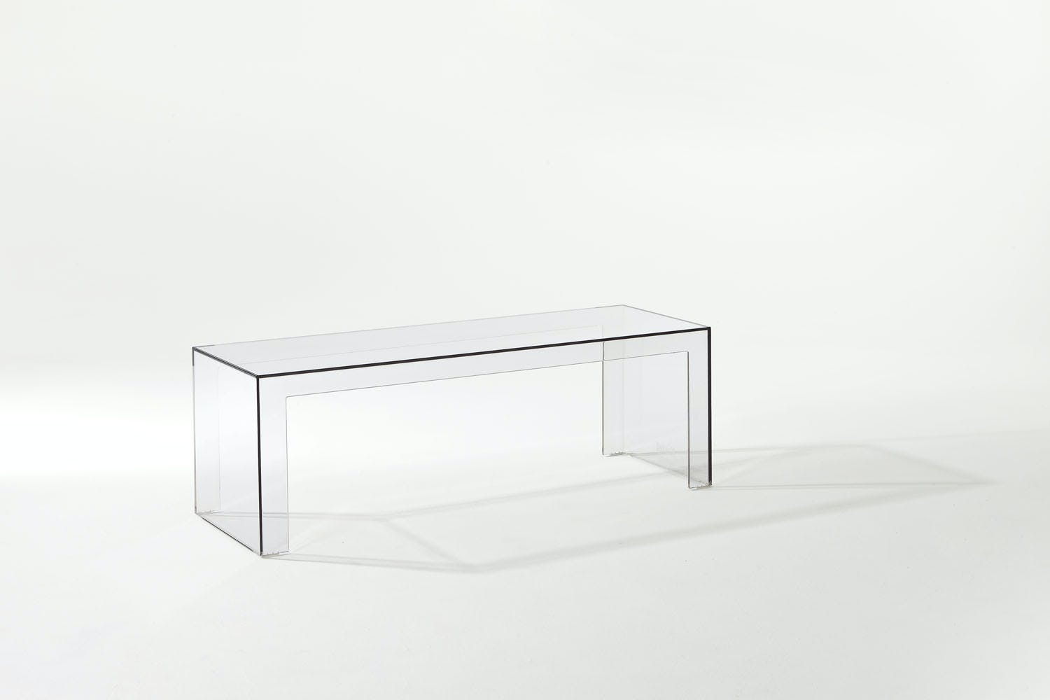 Invisible side table low by tokujin yoshioka for kartell for Furniture 99 invisible