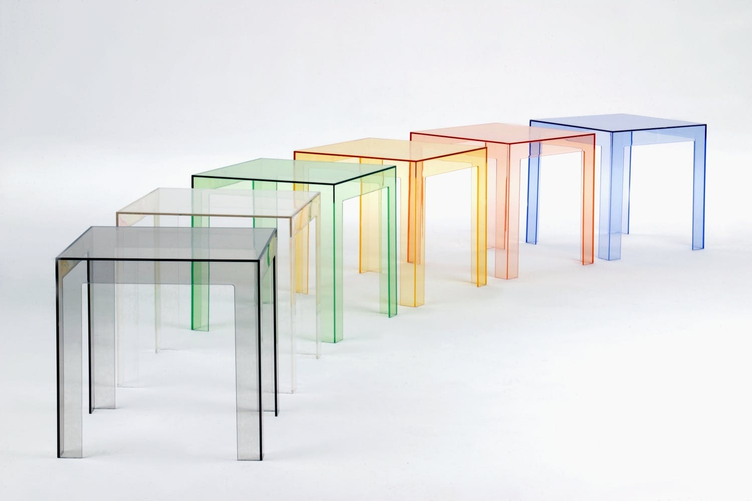 jolly low table by paolo rizzatto for kartell  space furniture - share