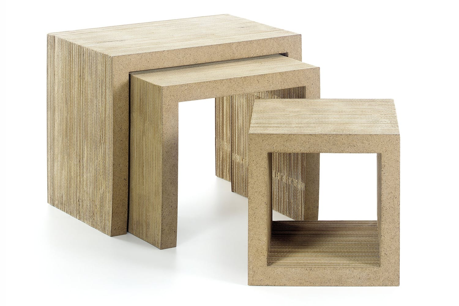 low table set by frank gehry for vitra space furniture
