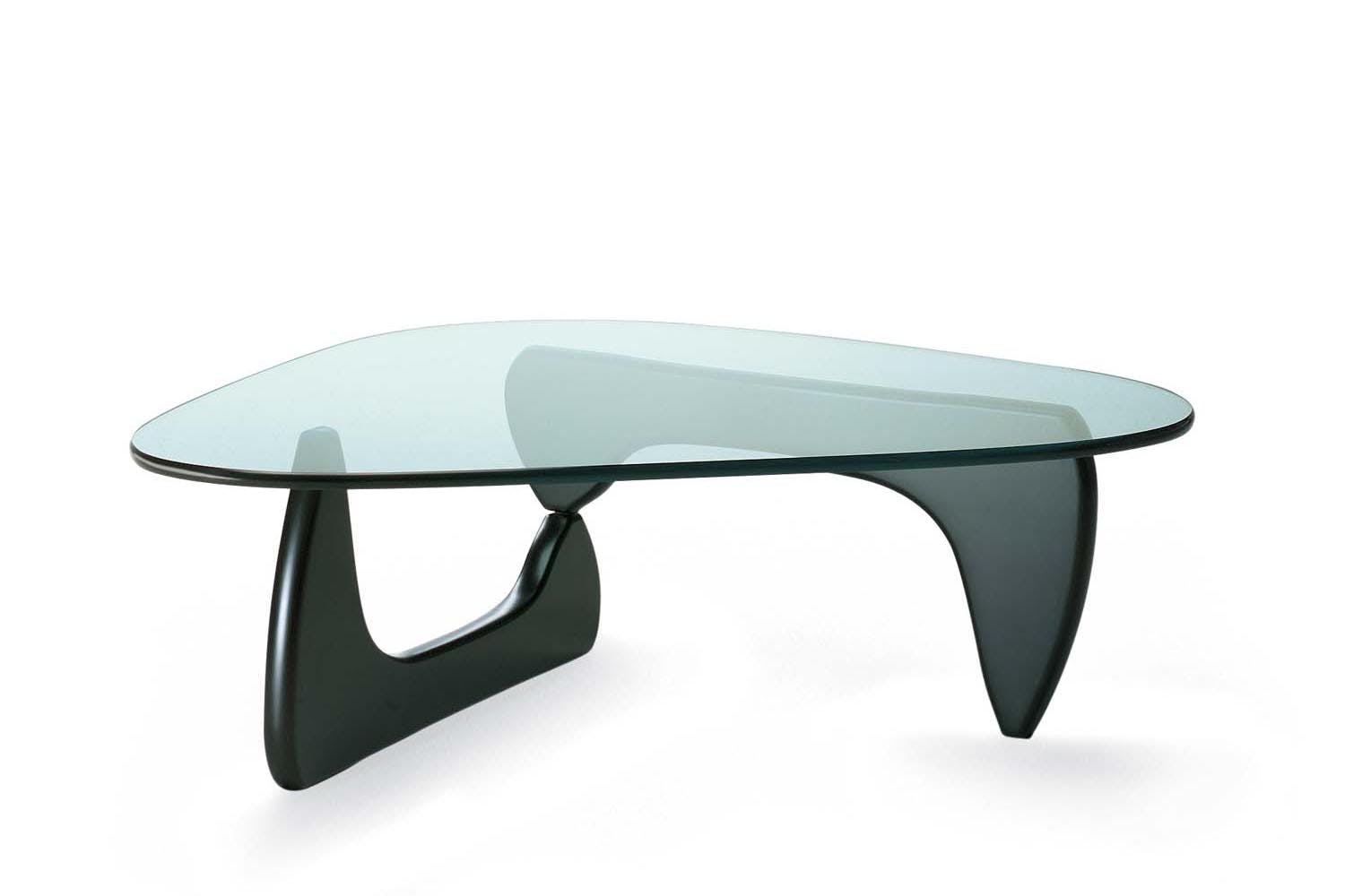 Noguchi coffee table black ash by isamu noguchi for vitra - Tables basses design en verre ...