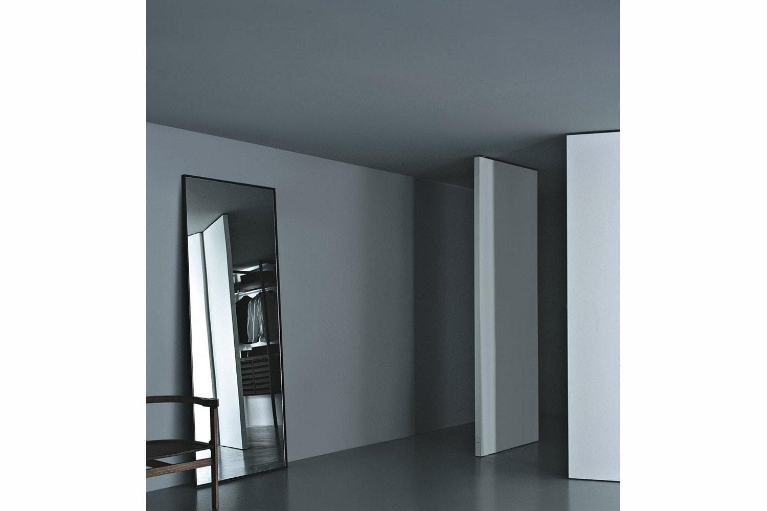 Reflection Small Vertical Mirror by Piero Lissoni for Porro
