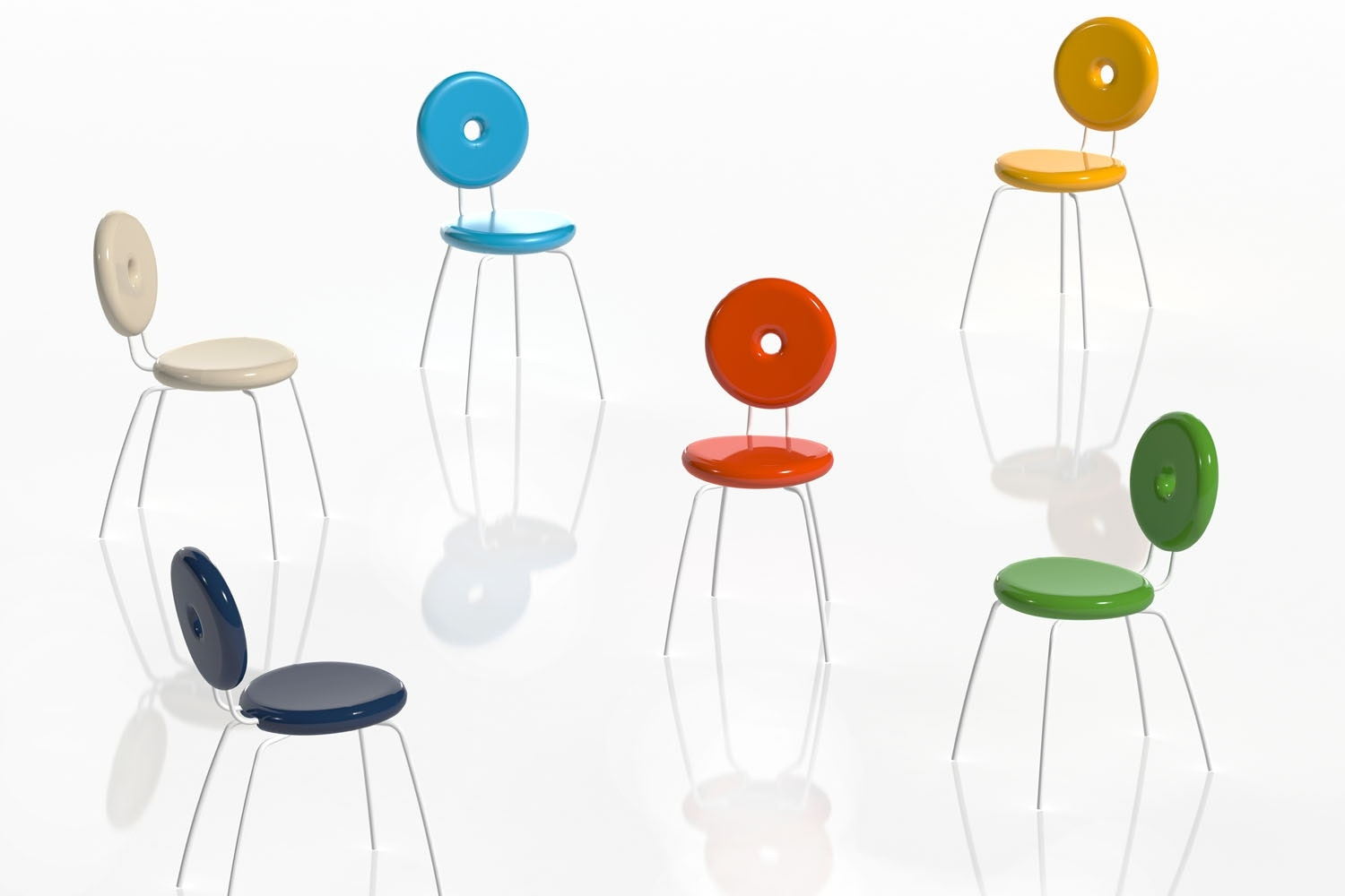 Ping Pong Pang Chair by Paolo Rizzatto for Serralunga