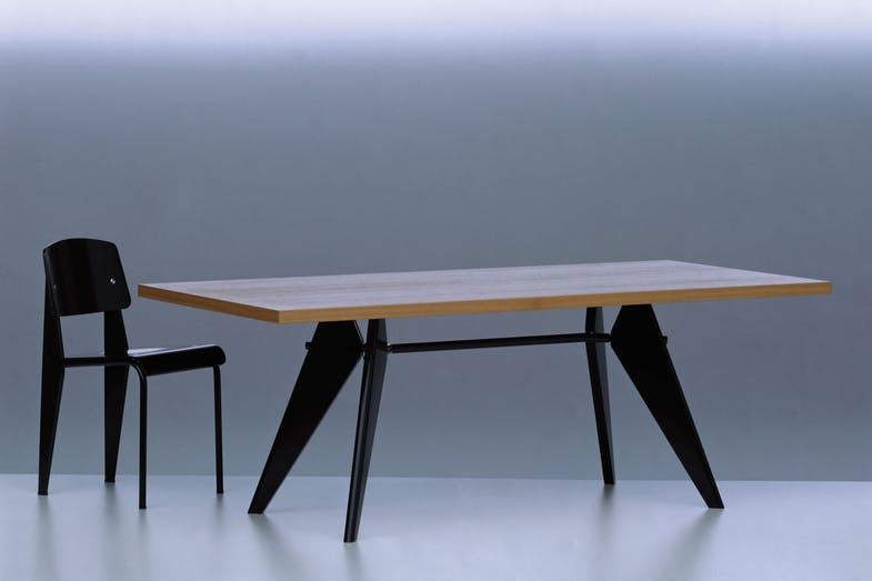 em table by jean prouve for vitra space furniture. Black Bedroom Furniture Sets. Home Design Ideas