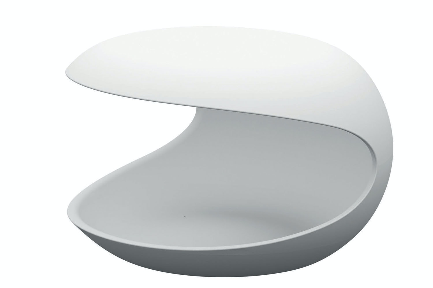 White Shell Side Table by Salvatore Indriolo for Zanotta