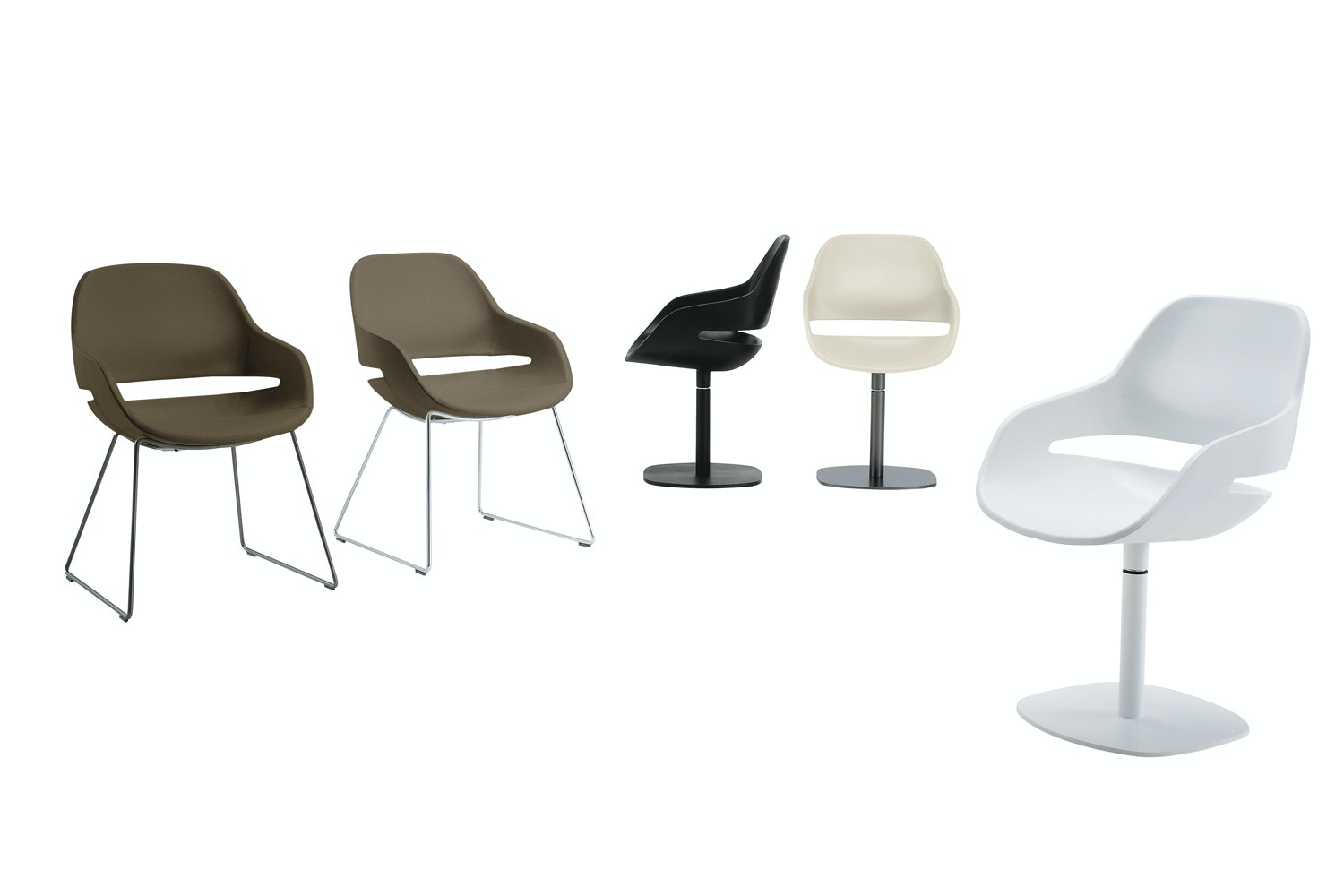 Eva 2268 Chair with Arms by Ora Ito for Zanotta