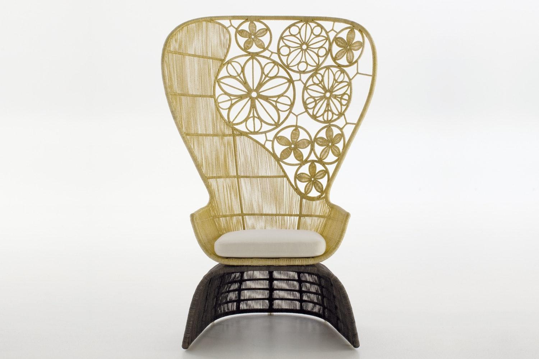 Crinoline Armchair High Back Indoor by Patricia Urquiola for B&B Italia