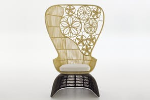 Crinoline Armchair High Back Indoor by Patricia Urquiola for B&B Italia